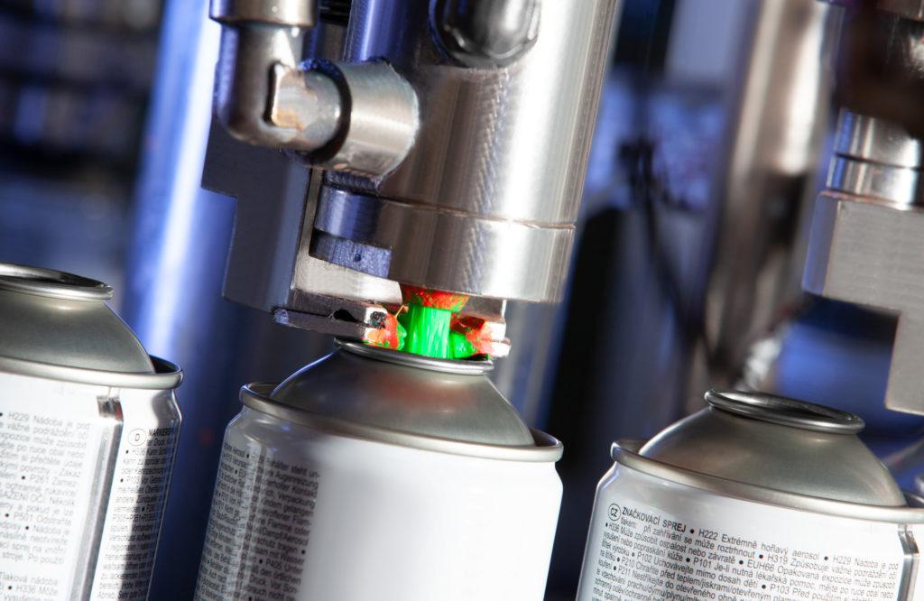 Il reparto aerosol è composto da tre linee completamente automatizzate